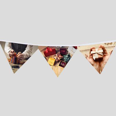 feest verjaardag fotovlaggetjes vierkant