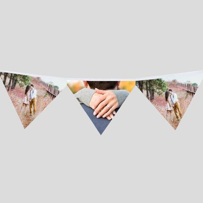 wimpelkette zur verlobung mit eigenen fotos bedrucken lassen