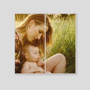 Tableau diptyque personnalisé bébé