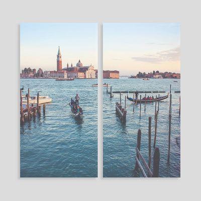 gepersonaliseerd canvas tweeluik voor verloofde koppels
