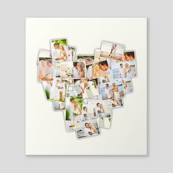 Collage cuore su tela