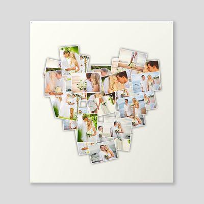 gepersonaliseerde hartvormige collage