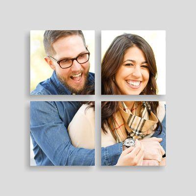 mehrteilige leinwand wanddeko mit eigenen fotos selbst gestalten