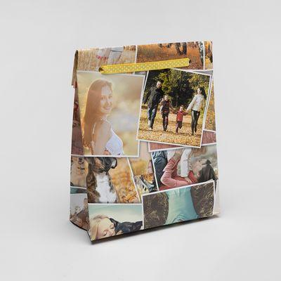 gepersonaliseerd cadeaupapier met collage