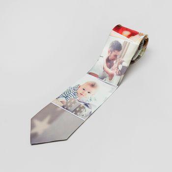 krawatten bedruckt mit fotocollage breit und schmal
