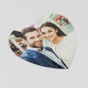 personalised heart shaped jigsaw