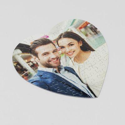 puzzle de corazón regalo personalizado para parejas