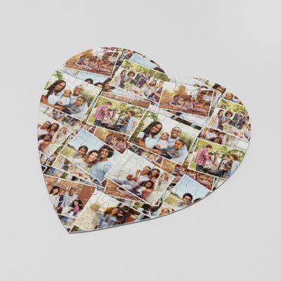 Personligt hjärtformat fotopussel
