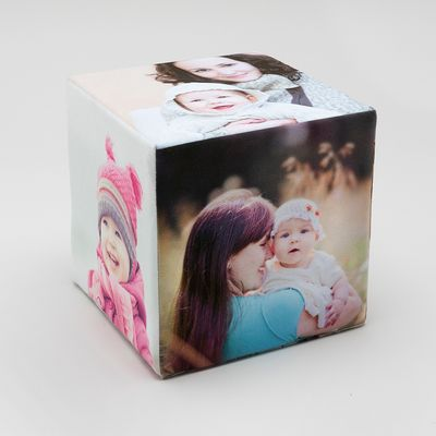 Baby photos cubes