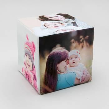 cubo con fotos personalizado para bebés