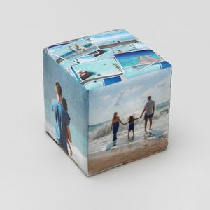Cube photo mousse personnalisé