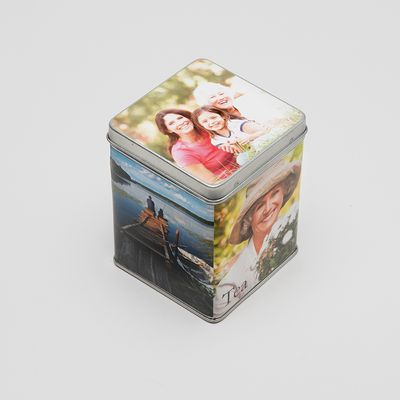 personalized tea caddy tin