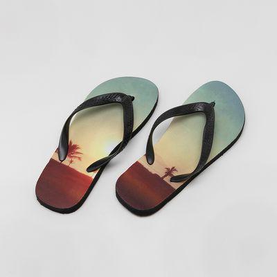 bedrukte slippers