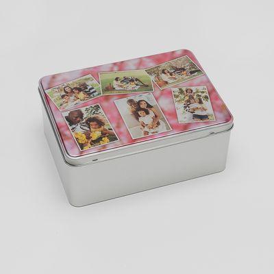 personalised photo tin