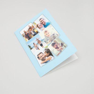 cartes de vœux collage personnalisée