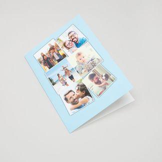 personalised collage greetings card