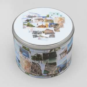 runde metall keksdose mit eigenen fotos bedrucken lassen