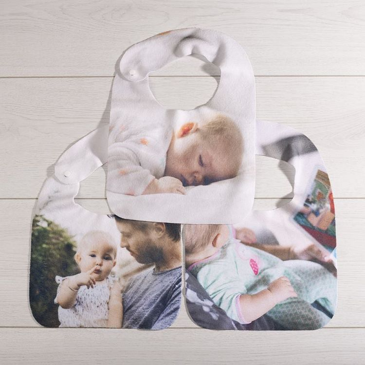 Bavoir pour bébé personnalisé en lot de 3