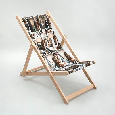 gepersonaliseerde strandstoel met collage