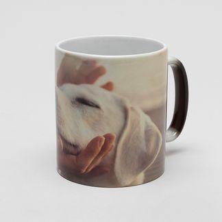 Personalised heat changing mug