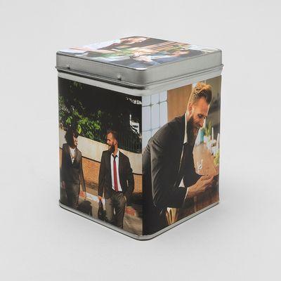 caja metalica cafe te personalizada fotos
