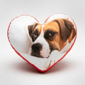 custom heart cushion