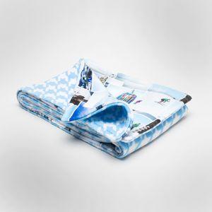 jouw foto's geprint op het deken langs beide kanten