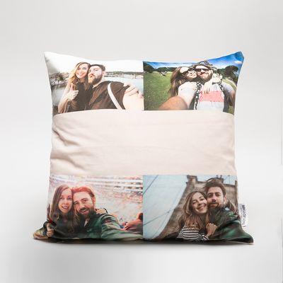 engagement photo pillow