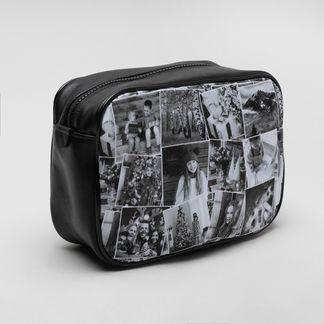 personalised collage mens washbag