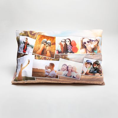 オリジナル枕カバー フォトコラージュ