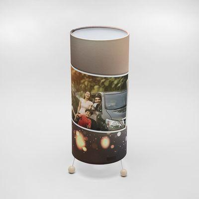 bedrukte kerst foto lamp