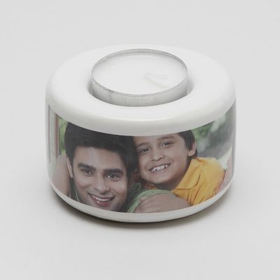 personalised tea light holder set