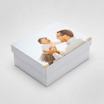 personalised baby keepsake box printed