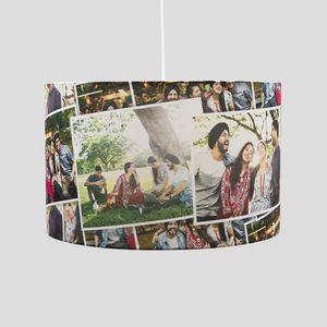 lamp bedrukt met kerst foto collage