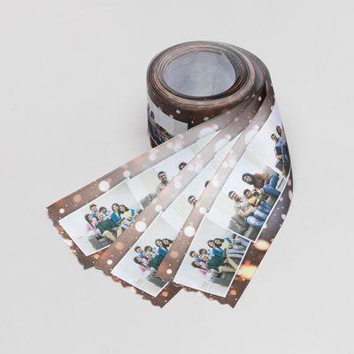 geschenkband aus satin mit fotos bedrucken lassen zu nikolaus