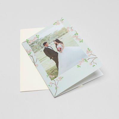 tarjeta felicitacion boda personalizada fotos