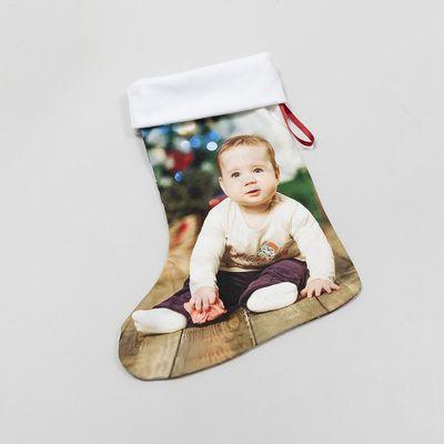 クリスマス靴下 写真プリント