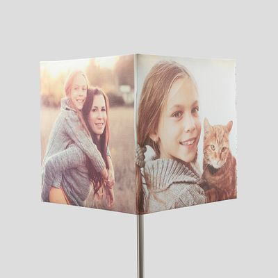 vierkante lampenkap met foto