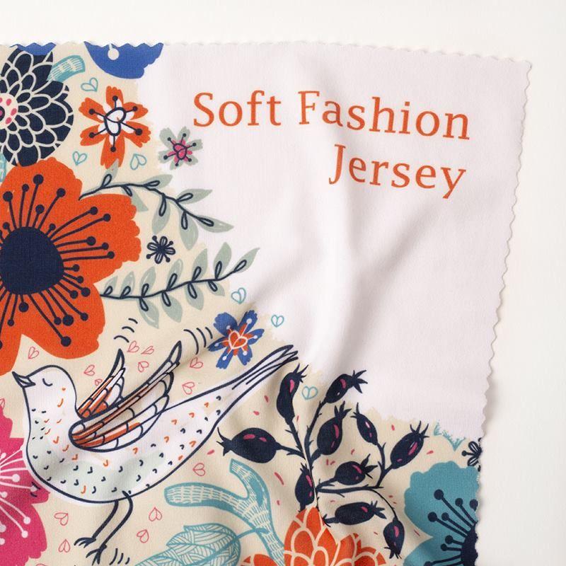 custom printed soft fashion jersey