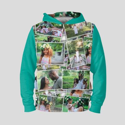 damen hoodie mit eigenem foto bedrucken lassen