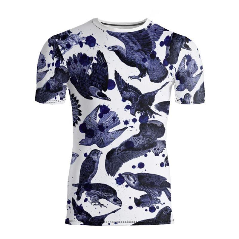 デザイン印刷 メンズ スリムフィットTシャツ 半袖