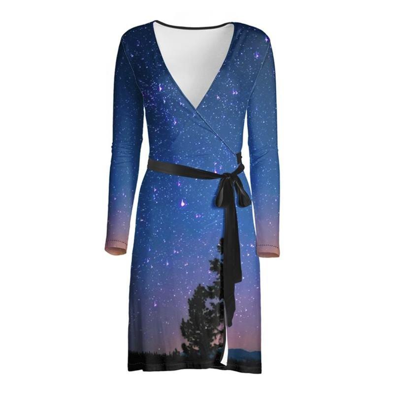 custom printed wrap dress