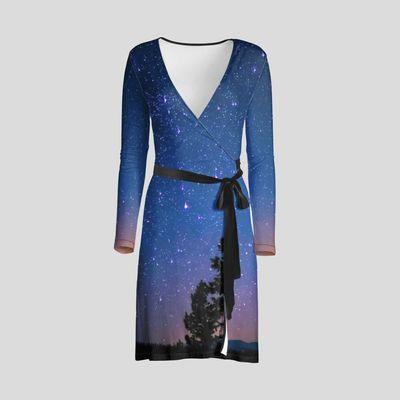 personalised wrap dress