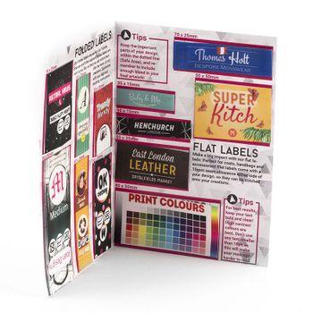 proefpakket voor gepersonaliseerde labels