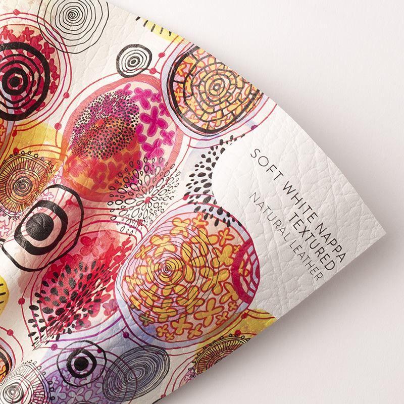 impresión en cuero de nappa texturizado