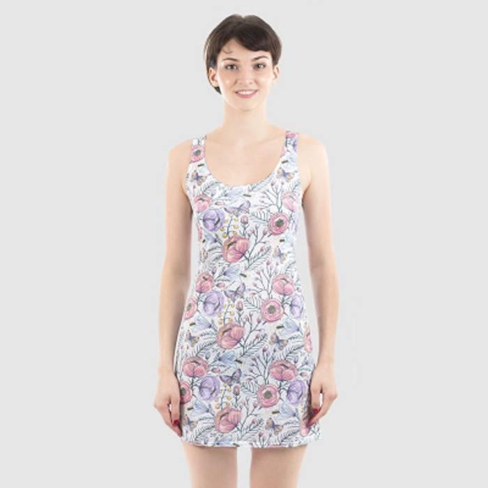 Chemise klänning med eget tryck