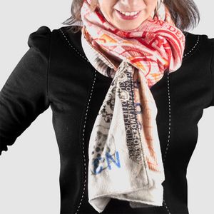 个性化绒面围巾