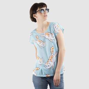 个性低领宽松女士T恤