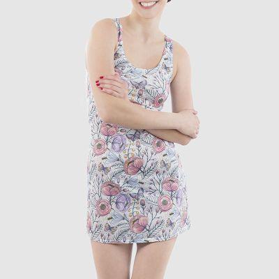 printed beach dress