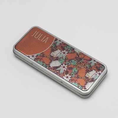 personalised pencil case tin